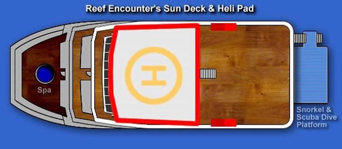 Reef Encounter heli pad and sun deck